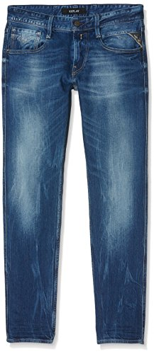 Replay Herren Jeanshose Anbass Blau (Blue Denim 9)