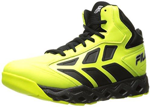 Fila Herren Torranado Basketballschuh, Gelb (Safety Yellow/Black/Metallic Silver), 41 EU