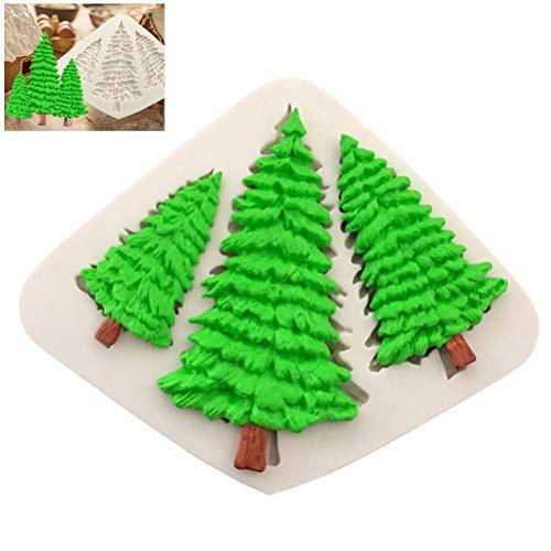 Sarplle Backform Weihnachtsbaum Ausstechform Creative Silikonform Schokoladenformen für Muffin, Brownie, Cupcake, Süßigkeiten Hochzeit, Geburtstag, Weihnachten