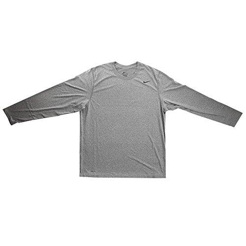 huge selection of a9e27 2a2eb Nike Hombre Legend Camiseta de Manga Larga, Gris Brezo