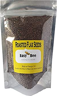 EasyBee Roasted Flax Seeds 900g for Eating for Weight Loss Salted