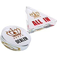 Fenteer 1 Set Acryl Poker Dealer und All-in Button für Kasino
