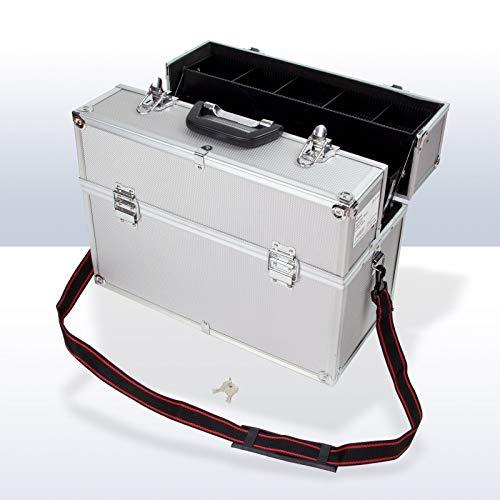 TronicXL Profi Friseurkoffer/Kosmetik Koffer Friseur Kosmetikerin leer Alu Aluminium XXL cm Angler Koffer Tasche unterteilt (Kosmetik Tasche Profi)