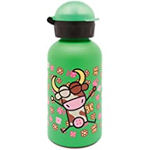 Kukuxumusu Botella Infantil Térmica 0,35L Verde de Acero Inoxidable Tapón HIT