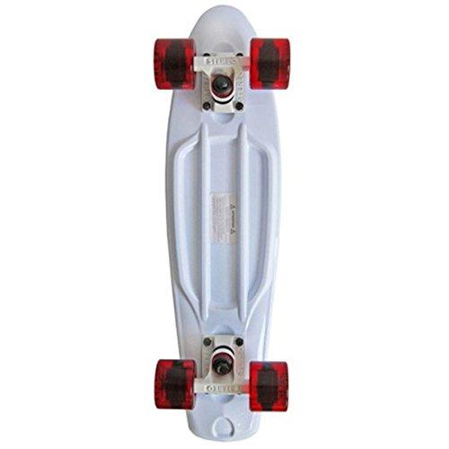 Stereo Skateboards Vinyl Skateboard Cruiser, komplett, White/White/Red -