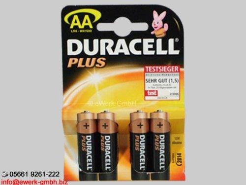 Duracell Plus 4x Batterie AA - Mignon