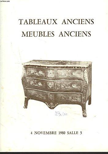 TABLEAUX ANCIENS. PORCELAINES, FAÏENCES ET DIVERS / SIEGES ET MEUBLES. TAPISSERIE. LE 4 NOVEMBRE 1980. par NERET-MINET, COMM. PRISEURS Mes DEURBERGUE