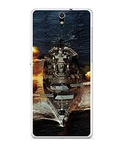 PrintVisa Designer Back Case Cover for Sony Xperia C5 Ultra Dual :: Sony Xperia C5 E5533 E5563 (Combat Ship War Vessel Missiles Ocean Water Wars)