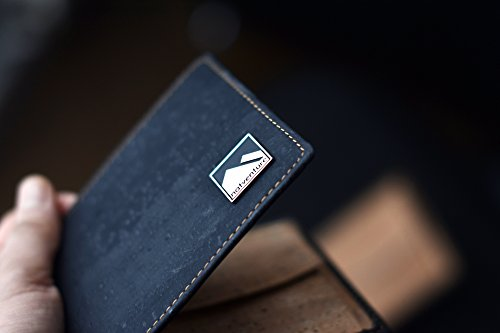 natventure ® Kork Geldbörse für perfekten Tragekomfort & gutes Gewissen, das Original mit Geschenkverpackung, Ökologisch & Vegan mit RFID Schutz, Portemonnaie in braun und schwarz - 4