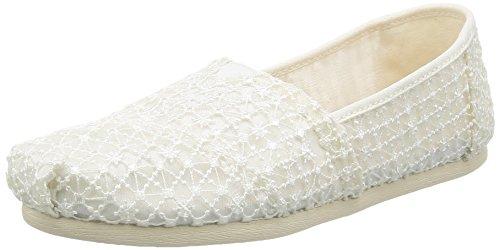 Alpargata Espadrilles white crochet lace White