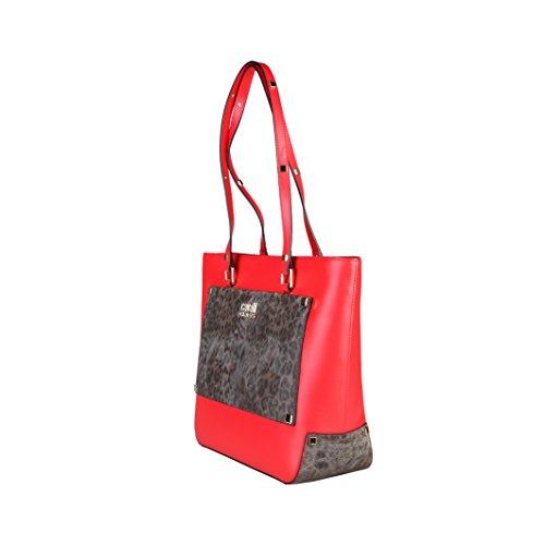 CAVALLI CLASS - Shopping Bag, - Donna Rosso/Leopardo