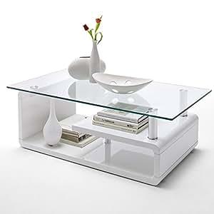 Design couchtisch alessia sofatisch glastisch tisch for Designer couchtisch amazon
