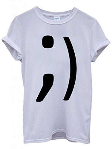 Blink Text Icon Cool Funny Hipster Swag White Weiß Damen Herren Men Women Unisex Top T-Shirt Weiß
