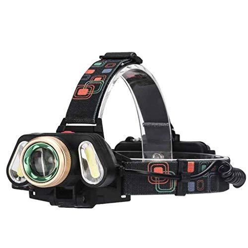 RMXMY Éblouissement extérieur Longue portée éclairage à Trois têtes Rechargeable Zoom projecteurs Multifonctions portatifs Simples et Pratiques