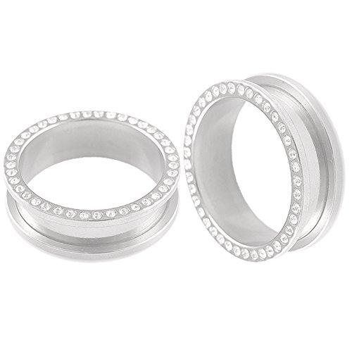 bodyjewelry top tunnle steel w/gem cl 30mm-de