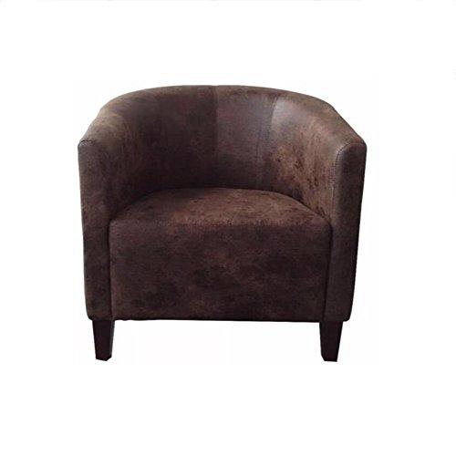 Qxx poltrona da divano in pelle poltrona da pranzo per soggiorno sedia da ufficio (colore : vintage brown)