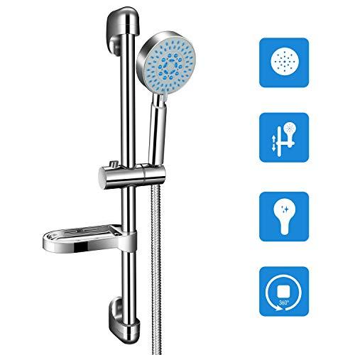 Duschsäule Duschset,PGFUN 5 Strahlarten Regendusche Duschsystem mit Brausestange,Handbrause,Brauseschlauch für Badezimmer