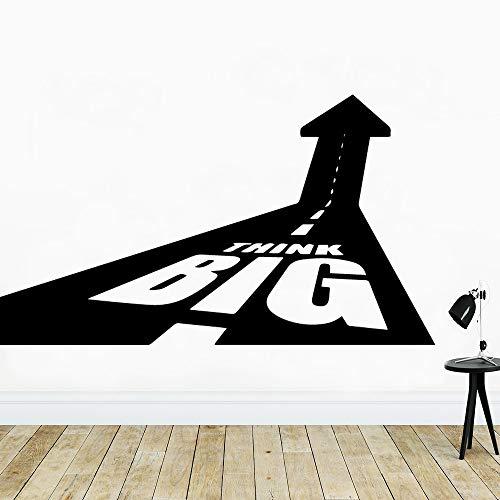 zqyjhkou Klassische Große Denken Tapete Selbstklebende wasserdichte Wandtattoo Für Kinder Baby Raumdekoration Vinyl Aufkleber Dekor Wandtattoos M 30 cm X 53 cm