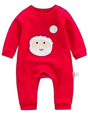 Kidsform Baby Weinachten Christmas Jumpsuit Spielzug Weihnachtsoutfit Set Strampler