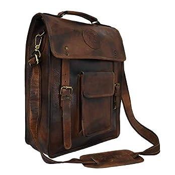 Adwaita 16 in echt leder Vintage look Messenger tas voor heren (versie -2.0)