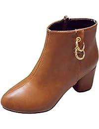 Zapatos Mujer Invierno otoño 2018 Coupon Vouchers Zapatos de tacón Alto con Punta Redonda para Mujer