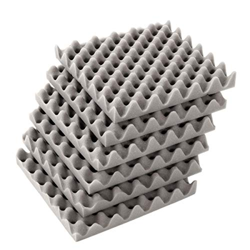 6Pcs 30x30x4cm Acoustic Soundproofing Foam Tiles Convoluted Egg Studio Sound Insulation Cotton -