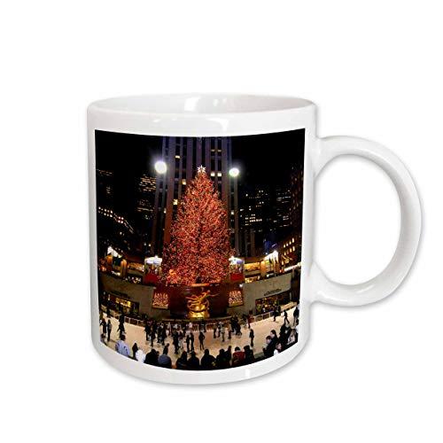3dRose Keramiktasse mit Weihnachtsbeleuchtung im Rockefeller Center in New York, 425 ml