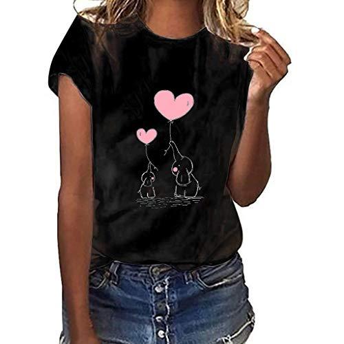 Xinantime_Camisetas de mujer, Camiseta de Manga Corta con Estampado de Gestos y...