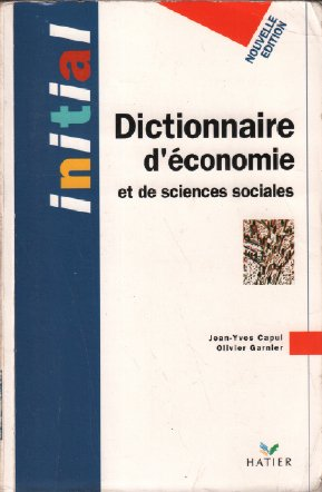 Dictionnaire d'conomie et de sciences sociales - Initial