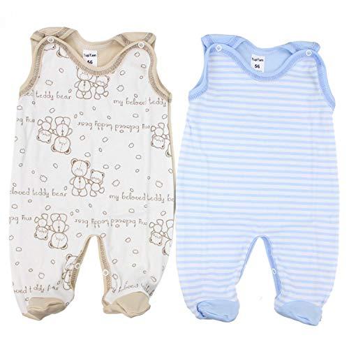 TupTam Unisex Baby Strampler Baumwolle Gemustert 2er Set, Farbe: Farbenmix 4, Größe: 56