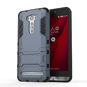 Bluedio Kickstand case for Asus Zenfone 2 Laser-ZE601KL - Black & Grey
