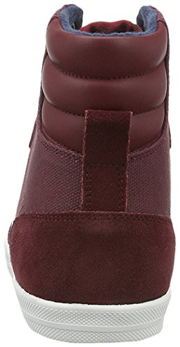 Hummel Slimmer Stadil Smooth Canvas, Sneakers Hautes Mixte Adulte Rouge (Cabernet)