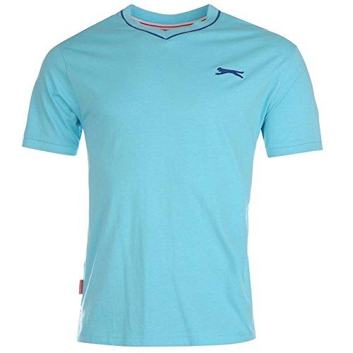 Slazenger Herren V-Neck T-Shirt Hellblau
