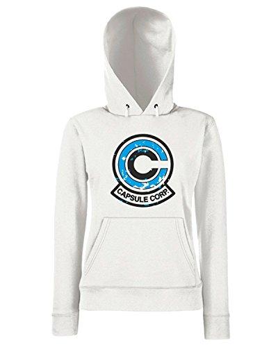 T-Shirtshock - Sweats a capuche Femme TGAM0048 Logo capsule corp 2 Blanc