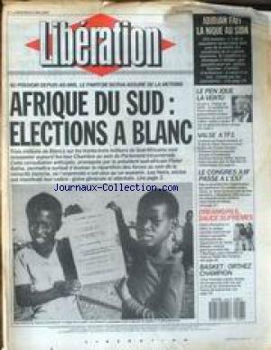 LIBERATION [No 1853] du 06/05/1987 - AFRIQUE DU SUD - ELECTIONS A BLANC - ABIDJAN FAIT LA NIQUE AU SIDA - LE PEN JOUR LA VERTU - LE CONGRES JUIF PASSE A L'EST - DREAMGIRLS SAUCE SUPREMES - BASKET - ORTHEZ CHAMPION. par Collectif
