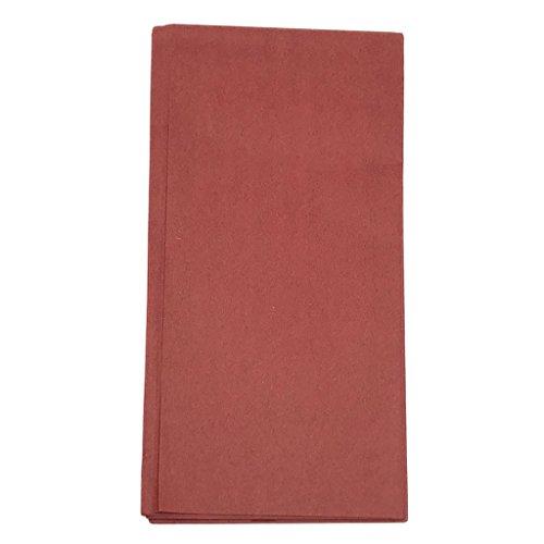 Fenteer 10 Stück Seidenpapier Geschirrpapier Packpapier Geschenkpapier Dekopapier Hochzeit Party Deko Papier Tissue Papier Blume Pompoms - Weinrot