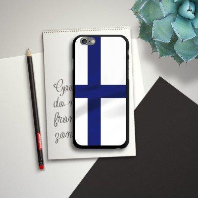 Apple iPhone 5s Housse étui coque protection Finlande Drapeau Drapeau CasDur noir