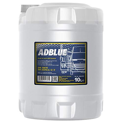 Mannol 2AD00010000 ADBLUE SCR - Trattamento Post-Trattamento dei Gas di Scarico, per Auto, Camion, 10 Lit