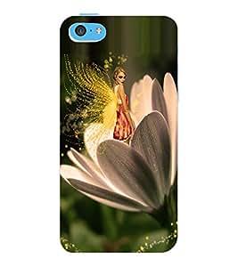 ColourCraft Angel on Flower Design Back Case Cover for APPLE IPHONE 5C