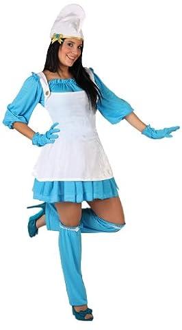 Atosa - 5954 - Costume - Déguisement Femme Naine Bleu - Taille 2