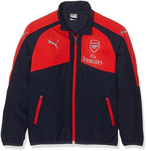 PUMA Kinder Jacke AFC Casuals Performance Woven Jacket without sponsor, peacoat-high risk red, 164, 749788 02 (Performance Jacke High Kinder)