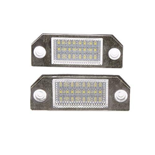 Preisvergleich Produktbild MagiDeal 1 Paar Weiße Kennzeichenbeleuchtung LED 3528 Smd Auto Kfz-Kennzeichenlicht Lampe Für Ford Focus