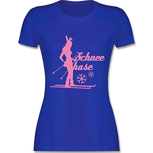 Après Ski - Ski Schneehase - tailliertes Premium T-Shirt mit Rundhalsausschnitt für Damen Royalblau