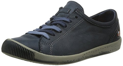 Softinos Isis washed leather, Derbies à lacets femme Bleu - Blau (navy 523)