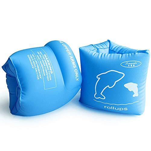 Lemandii Schwimmflügel für Erwachsene und Kinder über 3 Jahre, 15-45KG, Super Geschenk im Kindertag Wasserspielzeug   Schwimmen Halter (Blau)