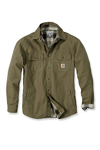 Carhartt Arbeitshemd, arbeitsshirt, arbeitsjacke Weathered Canvas Shirt Jacket - Frontier Brown XXL