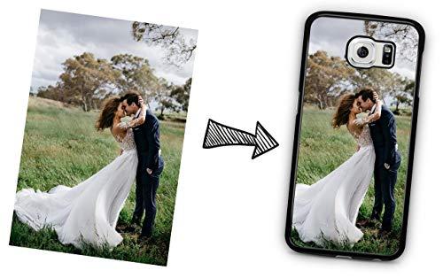 IDcaseFR Coque Silicone Bumper Souple Samsung Galaxy S6 -Coque téléphone avec Photo personnalisée, Personnalisable avec Votre Propre Image au Choix Swag Case TPU Design+ Stylet