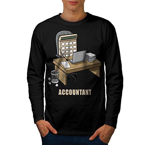 wellcoda Buchhalter Job Männer 2XL Langarm T-Shirt
