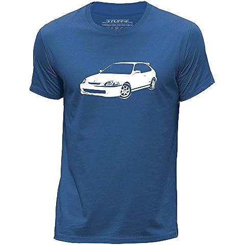 STUFF4 Uomo Girocollo T-Shirt/Plantilla Coche Arte / Civic EK9