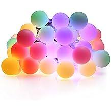 nutedawn luces al aire libre de la cadena m led ip impermeable bola luces